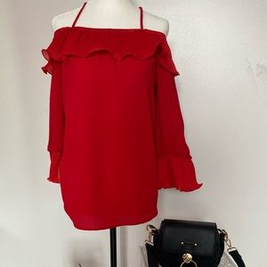 peca's usa red top size L brand new